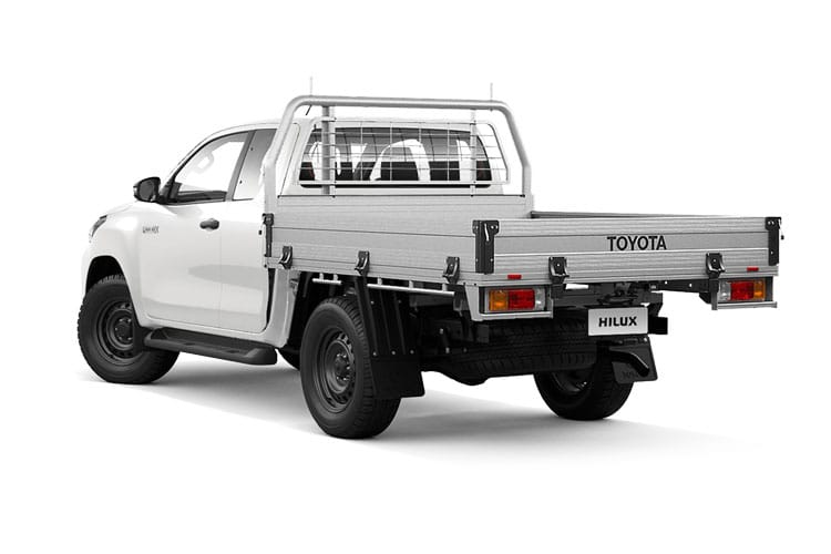 Toyota Hilux PickUp Extra Cab 4wd 2.4 D-4D 4WD 150PS Active Chassis Chassis Cab Manual [Start Stop] back view