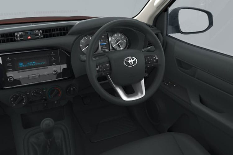 Toyota Hilux PickUp Extra Cab 4wd 2.4 D-4D 4WD 150PS Active Chassis Chassis Cab Manual [Start Stop] inside view